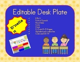Editable D'Nelian Desk Plate