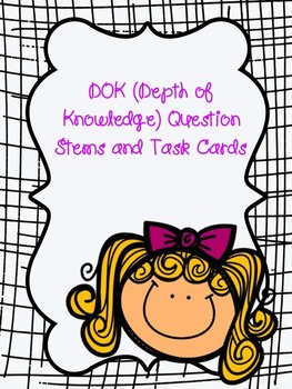 Editable DOK Question Stems/Task Cards