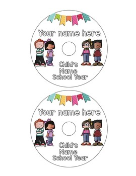 End of the Year: Editable DVD Labels