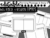 Editable Daily 5 & 3 Boards AND Morning Message Templates
