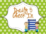Editable Daily 5 Check In