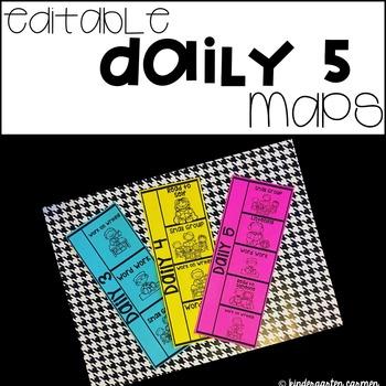 Editable Daily 5 Maps