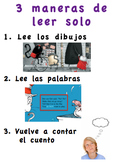 Editable Daily 5 Posters in Spanish - Read alone and with someone posters