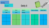 Editable Daily 5 Rotations Monday thru Friday