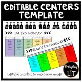 Editable Daily 5 Template