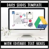 Editable Daily Agenda Slide Template (In person & Distance