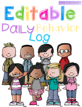 Editable Daily Behavior Log