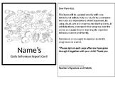 Editable Daily Behavior Report Card: Under the Sea Theme