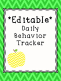 Behavior Data - Editable Daily Behavior Tracker