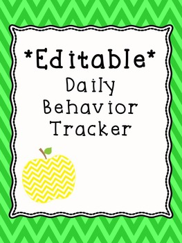 Behavior Data - Editable Daily Behavior Tracker