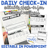 Editable Daily Check-in (Digital and Paper)