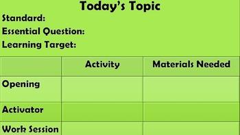 Editable Daily Classroom Timer