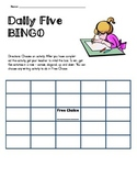 Editable Daily Five Bingo Template