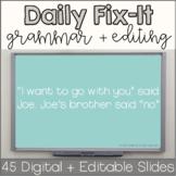 Editable Daily Fix-It Sentences | Digital Google Slides &