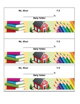 Editable Daily Folder Labels