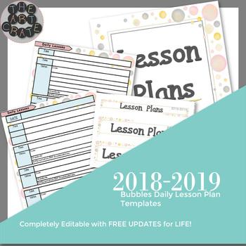 Editable Daily Lesson Plan Template Teaching Resources Teachers