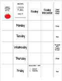 Editable Daily Lesson Plans Tamplate