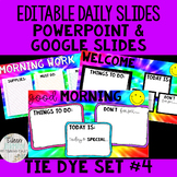 Editable Daily Morning Work Slides Tie Dye Set #4 - PowerP