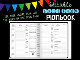 Simple Editable Weekly Planbook