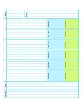 Editable Daily Planner