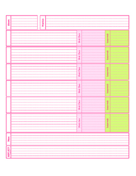 Editable Daily Planner