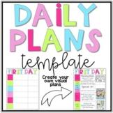 Editable Daily Plans Template