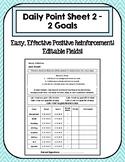 Editable Daily Point Sheet 2 - 2 Goals