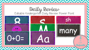 Editable Daily Review