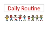 Editable Daily Routine Classroom Posters