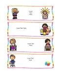 Editable Daily Routine Schedule Cards