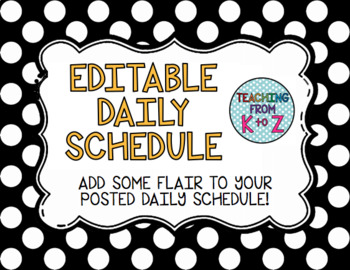 Editable Daily Schedule