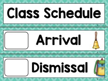 Editable Daily Schedule Cards (Aqua)