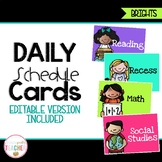 Editable Daily Schedule Cards {Bright Theme}