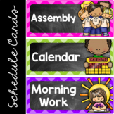 Editable Daily Schedule Cards Chalkboard Theme, Class Sche