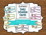 {Editable} Daily Schedule Cards - Chevron