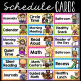 Editable Daily Schedule Cards Chevron Theme, Class Schedule Cards