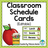 Editable Daily Schedule Cards (Lime/Light Green)