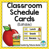 Editable Daily Schedule Cards (Yellow)