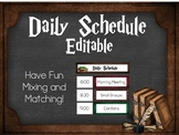 Editable Daily Schedule: Harry Potter Inspired