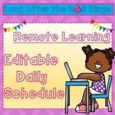 Editable Daily Schedule Template for Distance Learning
