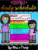 Editable Daily Schedule Template with Google Slides (Good