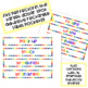 Editable Daily Schedule labels/name tags for rectangle label pockets