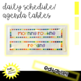Editable Daily Schedule labels/name tags for rectangle lab