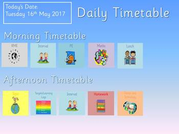 Editable Daily Timetable