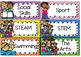 Editable Daily Visual Timetable Cards - Rainbow Chevron