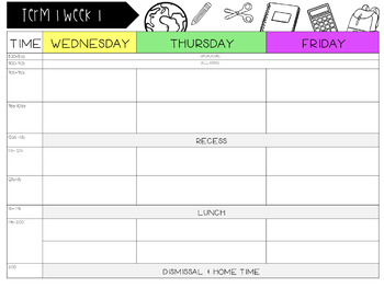 Editable Daily Workpad