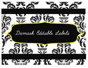 Editable Damask Labels