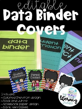 **Editable** Data Binder Covers and Dividers