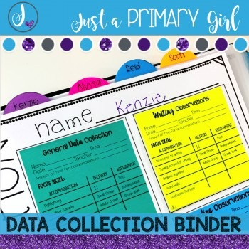 Editable Data Binder {Sticky Notes}