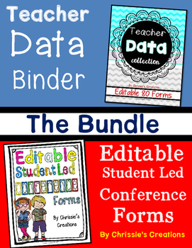 Student Led Conference and Data Binder Bundle